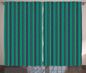 Forest Color Pastel Lines Curtain