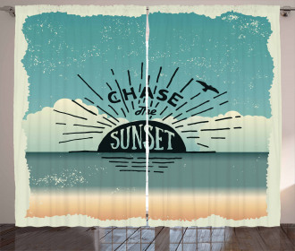 Typographic Chase the Sunset Curtain