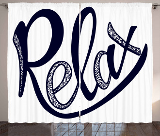 Stylized Calligraphic Font Curtain
