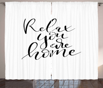 Relax You Are Home Phrase Curtain