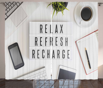 Relax Refresh and Recharge Curtain