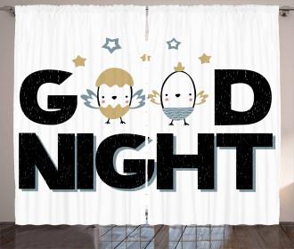 Good Night and Nesting Eggs Curtain