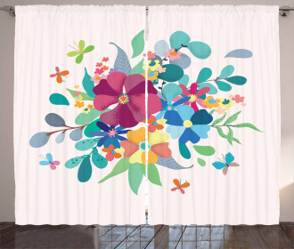 A Bouquet and Butterflies Curtain