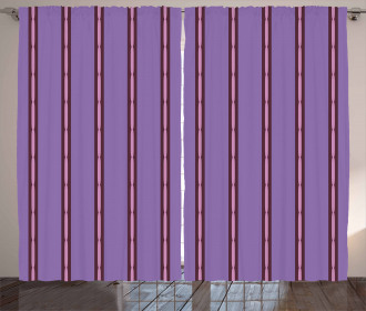 Sausage Link Shapes Lines Curtain