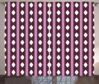 Stripes and Diamond Shape Curtain