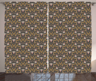 Victorian Style Bell Flowers Curtain
