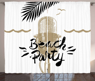 Musical Beach Party Curtain
