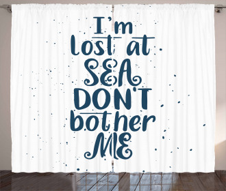 I Am Lost at the Sea Curtain