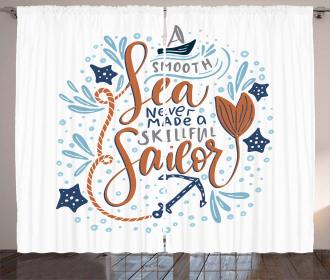 Skillful Sailor Phrase Curtain