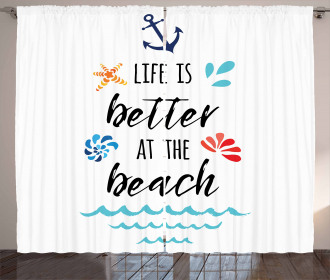 Travel Anchor Wave Star Curtain