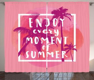Enjoy Summer Watercolor Curtain