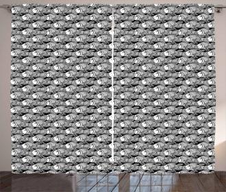 Black and White Anemonefish Curtain