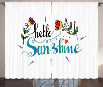 Hello Sunshine with Flower Curtain