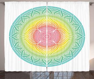 Sacred Geometric Circle Curtain