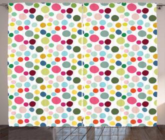 Circular Shapes Colorful Curtain