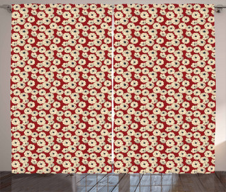 Romantic Flowers in Bloom Curtain