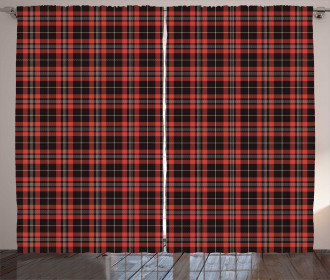 Plaid Composition Abstract Curtain