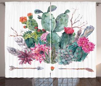 Bouquet in Boho Style Arrow Curtain