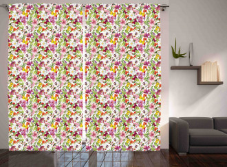French Vintage Flowers Curtain