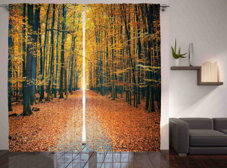 Romantic Alley Woods Curtain