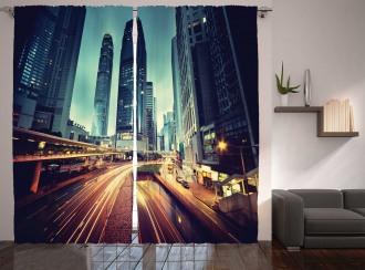 Traffic Hong Kong City Curtain