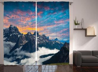 Alpine Clouds Foggy Curtain
