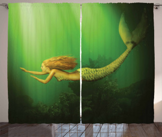 Mermaid with Fish Tail Curtain