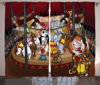 Circus Show Horses Curtain