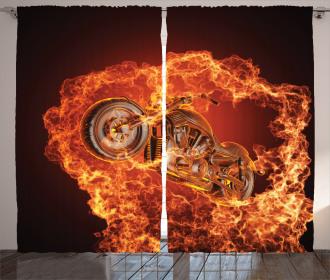Motorbike in Fire Curtain