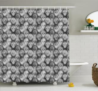 Brainpan Head Shower Curtain