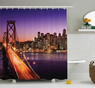 American Bridge Shower Curtain