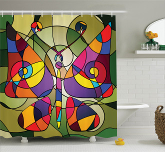 Abstract Butterfly Art Shower Curtain