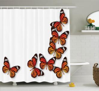 Spring Monarch Bug Shower Curtain