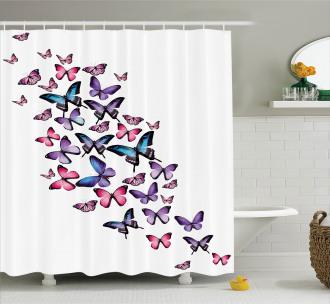 Cute Wings Feminine Shower Curtain