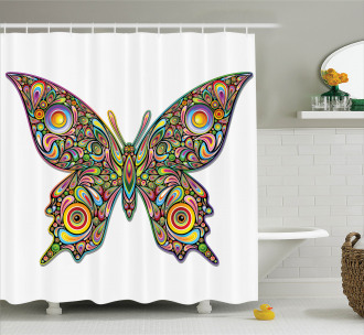Butterfly Artistic Shower Curtain
