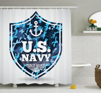 Naval Ship Marine Shower Curtain