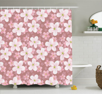 Cherry Blossoms Petal Shower Curtain