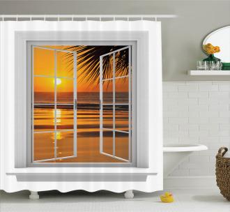 Ocean Sunset View Sky Shower Curtain