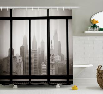 Philadelphia City Roof Shower Curtain