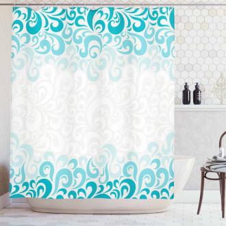 Floral Classic Design Shower Curtain