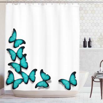Sunny Butterflies Morphs Shower Curtain