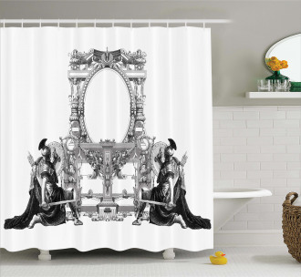 Ancient Roman Design Shower Curtain