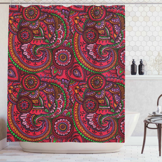 Traditional Asian Art Shower Curtain