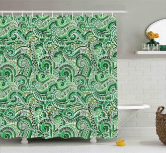 Classical Retro Mehendi Shower Curtain