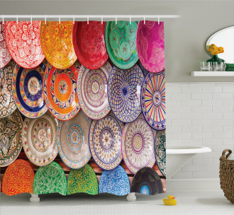 Traditional Colorful Shower Curtain