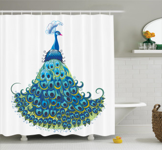 Classical Floral Artful Shower Curtain