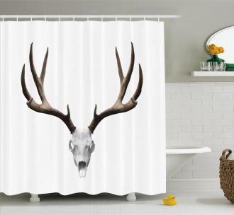 Deer Skull Skeleton Shower Curtain