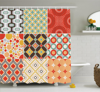 Vintage Abstract Shape Shower Curtain