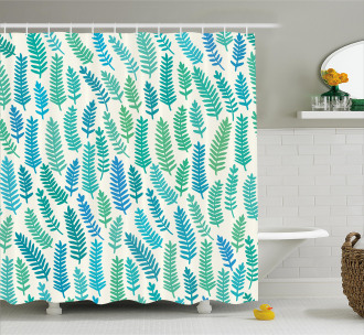 Branch Trees Summer Forest Shower Curtain