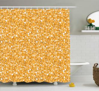 Abstract Polka Dots Art Shower Curtain